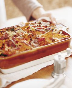 Bake Penne with Roasted Vegetables from Everyday Pasta by Giada De Laurentiis - Epicurious eCookbook Giada Recipes, Pasta Recipes, Baking Recipes, Dinner Recipes, Baked Penne, Penne Pasta, Vegetable Pasta, Vegetable Recipes, Vegetarian Recipes