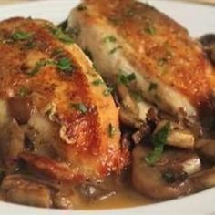 Chef John's Chicken and Mushrooms @keyingredient #chicken