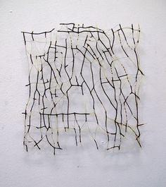 horsehair, machine embroidery, 46 x 45 cm Made by Marian Bijlenga http://www.marianbijlenga.com/