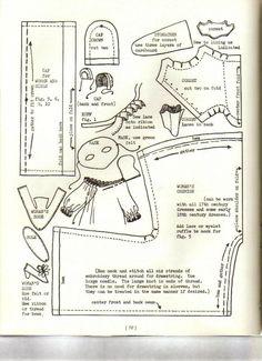 Old-fashioned patterns for dolls from: Выкройки старинной одежды для кукол.