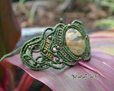 Tierra y Libertad bracelet with Leopardite by MahakashiCreations