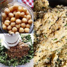 szeretetrehangoltan: Falafel/csicseriborsó-fasírt Falafel Pita, Beans, Vegetables, Lunch, Food, Beans Recipes, Eat Lunch, Hoods, Vegetable Recipes