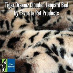 Tiger Dreamz Clouded Leopard Bed by Favorite Pet Products - For dogs, for cats, for bunnies, for epic naps! The Clouded Leopard Tiger Dreamz beds and mats are made from incredibly soft and realistic luxe faux fur. #twobostons