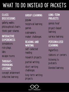Frickin' Packets | Cult of Pedagogy