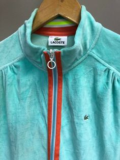 abee5d41b2 Womens Lacoste Devanlay Label Tracksuit Top Sports Zip Up Jacket Size 14/16  #fashion