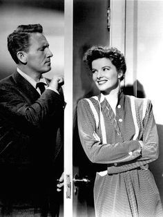 Without Love, Spencer Tracy, Katharine Hepburn, 1945 People Photo - 46 x 61 cm Viejo Hollywood, Hollywood Actor, Hollywood Stars, Classic Hollywood, Old Hollywood, Hollywood Glamour, Margaret Sanger, Cary Grant, Katharine Hepburn Spencer Tracy
