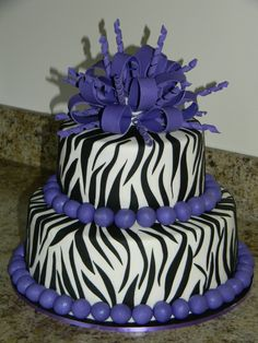 purplr cheetah cake decorations | Purple Zebra Birthday cake - Cake Decorating Community - Cakes We Bake