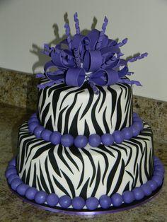 purplr cheetah cake decorations | Purple Zebra Birthday cake - Cake Decorating Community - Cakes We Bake