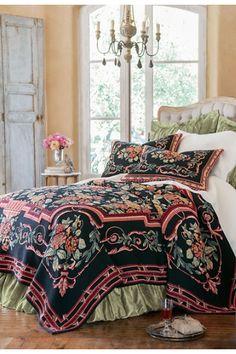 Cabbage Rose Coverlet - Rose Coverlet Blanket | Soft Surroundings