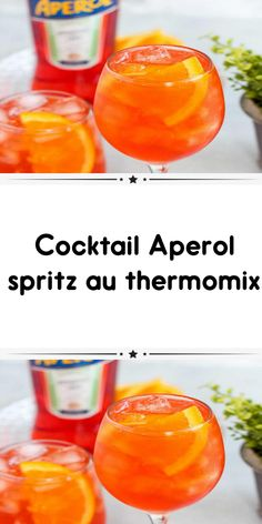 Aperol spritz cocktail with thermomix - cocktail Aperol spritz with thermomix the legendary Italian cocktail with a light orange taste. So simple to prepare here is the thermomix cocktail recipe. Gin & Tonic Cocktails, Italian Cocktails, Cocktail Aperol Spritz, Light Orange, Mojito, Cocktail Recipes, Barbecue, Smoothies, Liqueurs