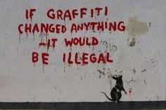 【素性一切不明!】謎の芸術家バンクシーのアートが全世界で話題に! | TABIPPO