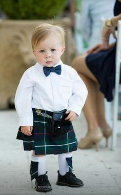 If you've ever wondered how adorable a baby in a kilt would be, you're about to get your answer, and I'll give you a hint. it doesn't even fall on a normal cuteness scale. Way too adorable. The kilt. Cool Baby, Baby Kind, Beautiful Children, Beautiful Babies, Cute Kids, Cute Babies, Ring Bearer Outfit, Men In Kilts, Celtic Wedding