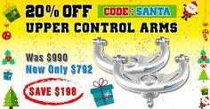 20% Off Superior Upper Control Arms to suit the Toyota Hilux Vigo, Prado 120, Prado 150, FJ Cruiser (Series 1), 200 Series Landcruiser, Nissan Navara D22, Navara D40, Ford Ranger (PX/PX11), Mazda BT-50 (Series 2) and Foton Tunland.  Was $990... Now Only $792... Save $198  Coupon Code: SANTA  Start Shopping: http://www.superiorengineering.com.au  Sale Ends 12:00 Midnight EST 7th December 2016.  #Controlarms #vigo #prado120 #prado150 #200series #navara #fordranger #bt50 #4x4 #4wd #sale