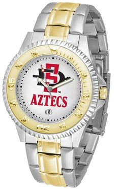 NCAA Men's San Diego State Aztecs Competitor Two-Tone Watch