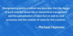 Michael Hammer business process reengineering quote