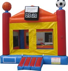 The Sports Arena is a large Bounce house and rents for ONLY $170! Ask for the oversized boxing gloves to make this an interactive unit!
