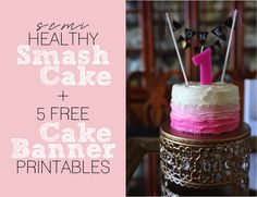 Recipe babys first healthy cake recipe smash cakes healthy birthday smash cake recipe free birthday cake banner printables the resplendent sisterspd