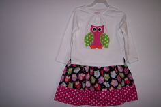 Owl birthday outfit