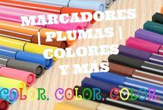 AMOr por los colores, marcadores, plumas de colores, lápices, materiales para decorar, hojas de scrapbook, papelería en general.
