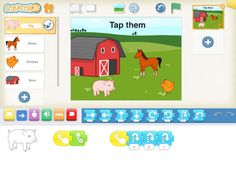 Scratch Junior app aimed at 5-7 year olds. Program interactive stories and games.