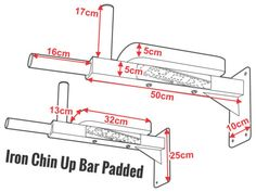 RDX Wall Mounted Padded Dip Bar made of durable & premium quality material. Buy Wall Mounted Padded Dip Bar from the official online store in USA Home Made Gym, Diy Home Gym, Gym Room At Home, Diy Gym Equipment, No Equipment Workout, Fitness Equipment, Dip Workout, Gym Workouts, Wall Workout