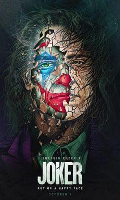 Joker Movie Poster Prints - Set of 6 inches x 10 inches) Pictures - Joaquin Phoenix Joker Comic, Le Joker Batman, Batman Joker Wallpaper, Joker Film, Joker Iphone Wallpaper, Der Joker, Joker Wallpapers, Joker And Harley Quinn, Gotham Batman