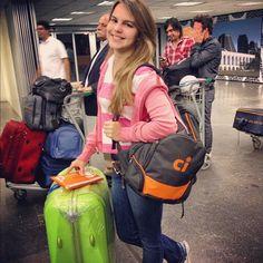 Bianca Salgueiro embarcando rumo a San Diego #ViajanteCI