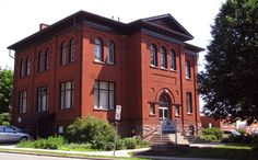 This was the first public library I went to as a child.  The street address is 40 Albert Street, Waterloo, Ontario, Canada  [ I decided it was safer to leave off the postal code, since Canada Post has insanely chosen to assert copyright ownership over Canadian postal codes, so I'm boycotting postal codes at present.]