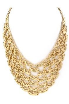 Gold Linked Infinity Statement Necklace  this would look lovely against a solid black or red dress! |Jewelry - Daily Deals|