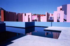 La Muralla Roja in Spain. Architect Ricardo Bofill.