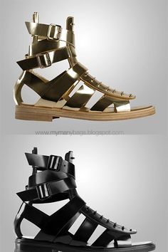 Below: 'Gladiators and tough guys chic'...these shoes are the ultimate in macho footwear, drools...it's a buy buy buy!         Below: More ...