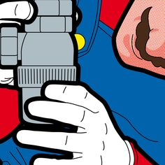 Game at Work, The Secret Life Of Heroes by Grégoire Guillemin - #mario #supermario