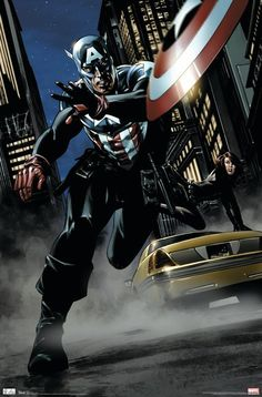 Captain America Poster, Captain America Black Widow, Captain America Comic Books, Marvel Captain America, Marvel Comics, Marvel Heroes, Marvel Vs, Hero Poster, Comic Poster