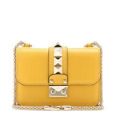 Valentino Rockstud Mini Schultertasche Gelb