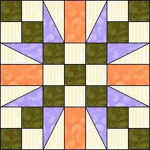 Quilt-Pro - Block of the Day..Seven Patch Flower The Block of the Day is available to all quilters, regardless of whether you own our software programs.  You can download the Block of the Day as a .pdf file