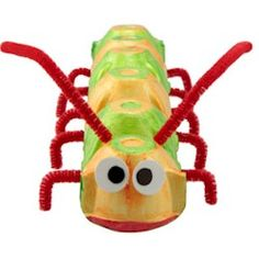 Eat your way to making a crafty caterpillar! Yes, before you make this craft, you have to eat an entire carton of eggs. Then it's easy to transform your empty carton into a creepy, crawly little bug.  Wouldn't it be great if caterpillars ate mosquitoes?