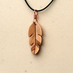 Handcarved Ambrosia Maple Wood Leaf / Feather by whittlersroost