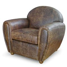 cigarstyle vintage leather club chair - Club Chair