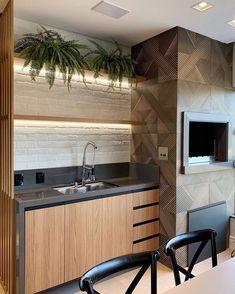 by Kist Interiores Home Design Decor, House Design, Home Decor, Kitchen Interior, Kitchen Design, Small Balcony Decor, Plakat Design, Interior Decorating, Interior Design