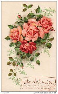 Vintage card #vintage #roses