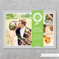 Photo Holiday Card   Printable   Married Christmas   First Xmas as Mr. and Mrs.   Newlyweds   5x7