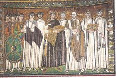 Mosaic at San Vitale, Ravenna, Italy. It shows emperor Justinian, who ruled the Eastern Roman Empire from 527 to 565 with bishops ruling from Ravenna, Italy. Early Christian, Christian Art, Ancient History, Art History, Church History, Ravenna Italy, Empire Romain, Early Middle Ages, Byzantine Art