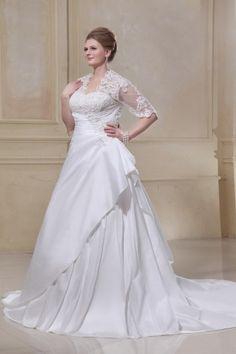 Ballgown Empire Applikation Spitze Schnürung 2013 Brautkleid mit Halb-Armel