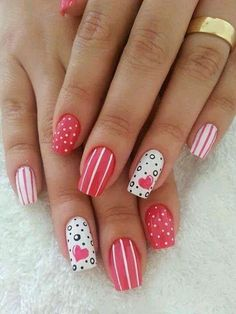 Valentine Party Soothing Nail Art Design