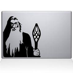 Gandalf the White Macbook Decal Sticker Black