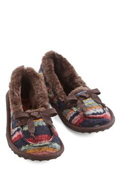 Where the Slumber Party At Slippers in Hot Cocoa