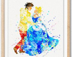 Disney Aladdin Watercolor Art Poster Print Home by MarcoFriend