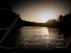creation genesis | Genesis 1:9 - The Lands And Seas Wallpaper - Christian Wallpapers and ...