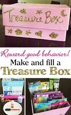 Good Behavior: Make and Fill a Treasure Box {+ FREE Behavior Sheet and Reward Cards Printables!} Reward Good Behavior: Make and Fill a Treasure Box {+ FREE Behavior Sheet and Reward Cards Printables!}And And or AND may refer to: Reward System For Kids, Reward Chart Kids, Chore Chart Kids, Rewards Chart, Reward Ideas, Chore Charts, Reward Charts For Toddlers, Behavior Chart Preschool, Goal Charts
