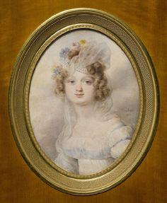 Michalina Bierzyńska z Bierzyna h.Ślepowron ,gwasz, 1830